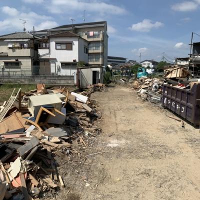 久御山町島田堤外 解体工事